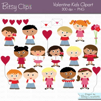 Valentine Kids Clipart Commercial Use Clip Art
