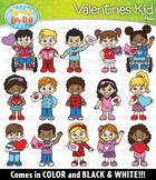 Valentine Kids Clipart {Zip-A-Dee-Doo-Dah Designs}