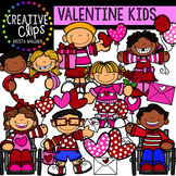 Kids Valentine Clipart {Creative Clips Clipart}