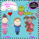Valentine Kids Hand Drawn Clip Art