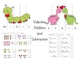 Valentine Kindergarten Addition and Subtraction