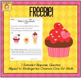 Valentine Kindergarten Extended Response FREEBIE