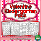 Valentine Kindergarten Pack, No Prep, CCSS Aligned