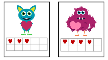 Valentine Kindergarten/ Pre-K 10 Frames Count the Room