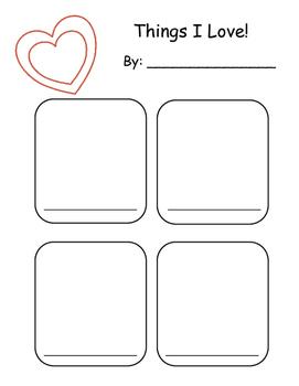 Valentine Kindergarten Writing