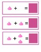 Valentine Kisses Addition Math Station