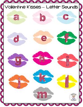 Phonics- Letter Sounds - Valentine Kisses