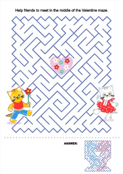 Valentine Kittens Maze, Commercial Use Allowed