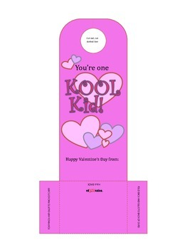 Valentine Kool-Aid Packet Holder