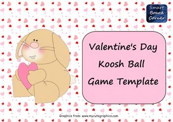 Koosh Ball Game Template SMART Board Lesson Valentine Theme