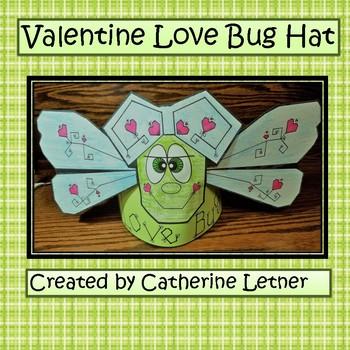 """Valentine Craft Hat, """"LOVE BUG"""" Dragonfly Hat"""