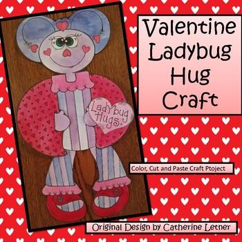 Valentine Ladybug Hug Craft Project
