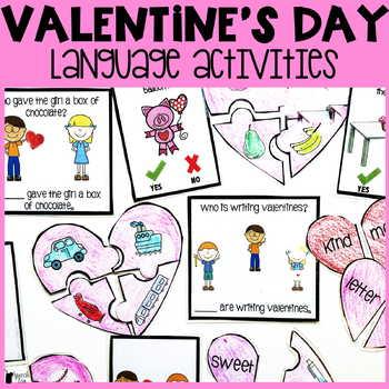 Valentine's Day Language Activities | Valentine's Day Speech Therapy