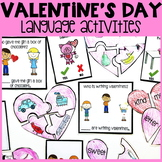 Valentine's Day Language Activities | Valentine's Day Spee