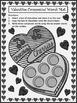 Valentine's Day Game Activities: Valentine Compound Word Puzzles - BW