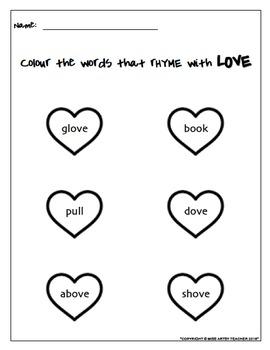 Valentine's Day Printable Worksheets