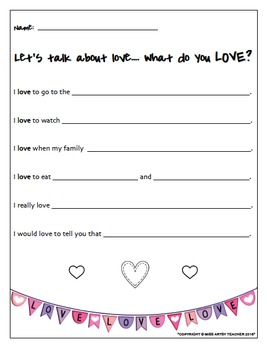 Valentine's Day Printable Worksheets