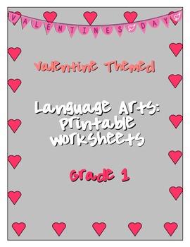 Valentine Language Arts Printable Worksheets