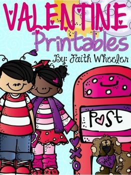 Valentine Language Arts and Math Printables