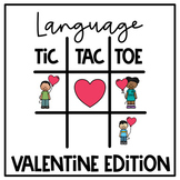Valentine Language Tic Tac Toe Boom Cards | Speech Therapy