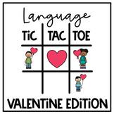 Valentine Language Tic Tac Toe Boom Cards | Speech Therapy