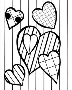 Valentine Language-art Coloring and Work Sheets