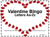Valentine Letter Bingo-For Different Age Groups