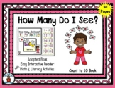 Valentine Letter - Count to 10 Adapted Interactive Reader