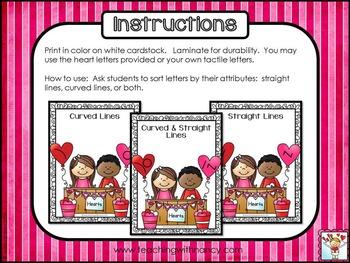 Valentine Letter Discrimination Stations