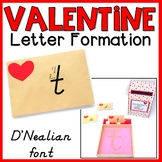 Valentine Letter Formation Cards | Sand Tray Letters | D'Nealian