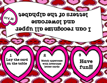 Valentine Letter Match (uppercase and lower case alphabet match