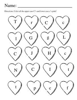 Valentine Letter Match/Color pack