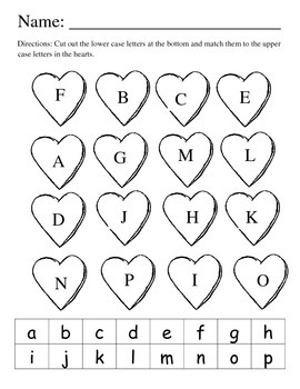Valentine Letter Match/Color pack