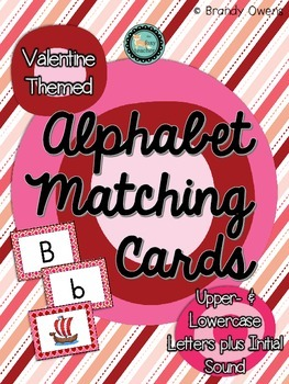 Valentine Letter Matching Cards: Upper- and Lowercase plus