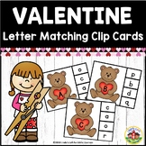 Valentine's Day Letter Matching Clip Cards