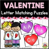 Valentine's Day Letter Matching Heart Puzzles