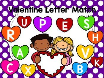 Valentine Letter Matching Mat