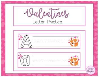 Valentine Letter Practice