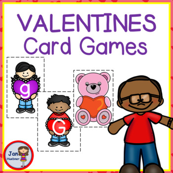 Valentine Letters Match Lower Case, Upper Case and Beginning Sounds