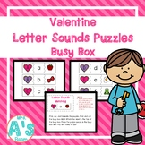 Valentine Letter Sounds Puzzles Busy Box