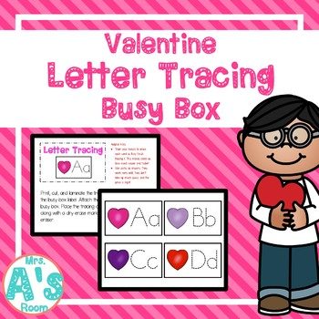 Valentine Letter Tracing Busy Box