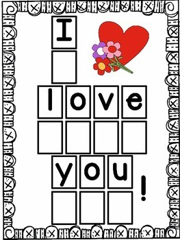 Valentine Letter and Counting Mats Preschool