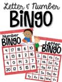 Valentine Letter and Number Bingo