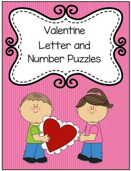 Valentine Letter and Number Matching Puzzles