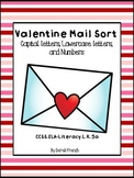 Valentine Letter and Number Sort