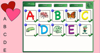 Valentine Letter and Picture Matching Smartboard