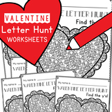 Valentine Letters of the Alphabet Worksheets