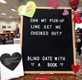 Valentine Library Pick-Up Line Display