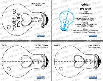 Valentine Lightbulb Craft & Mobile