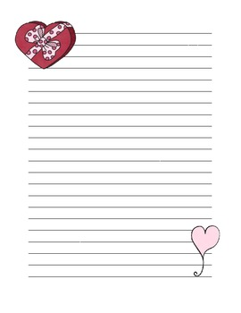 Valentine Lined Paper